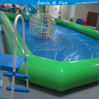 Inflatable donut pool float for inflatable swimming pool