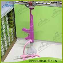 2015 hookah cool design gun hookah AK47 shisha wholesale