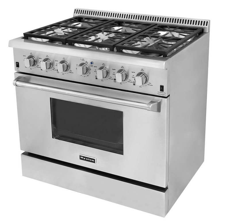 Free standing kitchen stove with gas oven