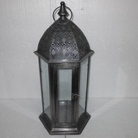 Moroccan Temple Tower Metal Candle Holder Hanging Lantern