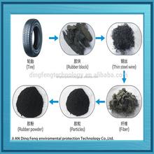 Máquina de reciclagem de resíduos de pneus para crumb rubber / pneu de trituração planta