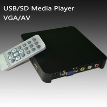 hot digital media player arabic sd card usb memory player vga out for car
