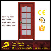 glass kitchen door design swinging style composite solid wooden door