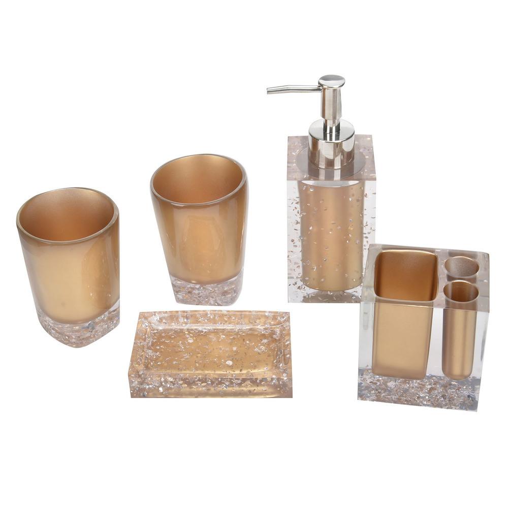 Die Goldene Serie Luxus Badezimmer Set Zubehör Für Heimtextilien