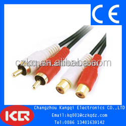 2RCA plug to RCA jack audio video cable RCA audio cables