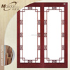Latest designs interior wooden glass sliding doors for living room