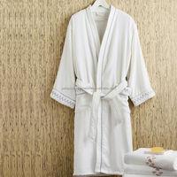 PX Hotel White Long 100% Cotton Bathrobe M/L/XL/XXL