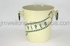 Enamel Garden Decoration Flower Pot/Antirust small Bucket/Garden Metal Flower Pot_Home Sundries Collector