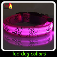 best selling pet products LED flashing dog collars for christmas