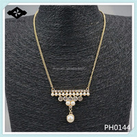 PH0144 Lastest Pendant Necklace Pearl Necklace for women Gold Chain latest design pearl necklace