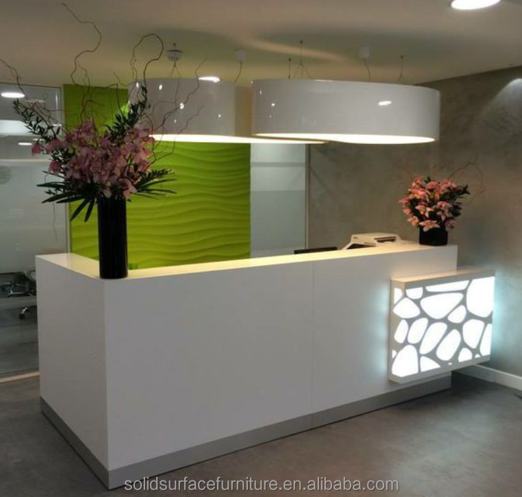Custom! Modern beauty salon reception desk/office front desk counter