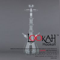 High quality fantastic portable clear GHN002 glass hookah