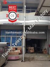 CCTV telescoping mast for security camera telescopic pole