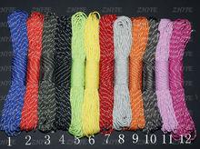 Envío gratis 12 colores 7 strand reflectantes paracord PRC-3003