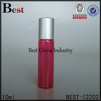 hot cosmetic wholesale 10ml 15ml red colorful glass roll on perfume bottles