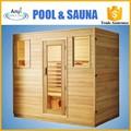 Interior de infrarrojo lejano sauna para 4 personas, madera de cedro sauna habitación
