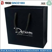 can be customized paper gift bag black bag