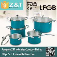 blue kitchen ware products with glass lid