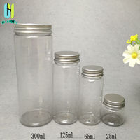 2015 newest style 300ml 125ml 65ml 25ml refillable tea herb dry flower spice storage containter plastic candy jar