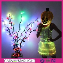 2015 new products fashion optic fiber led halloween pumpkin