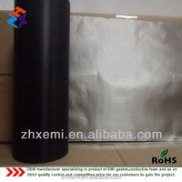 Black Color Ni-Co Conductive EMI Shielding Fabric For Radiation Jammer Windows Curtain in High-Radiation Envirionment