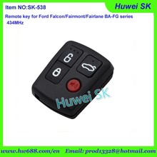 4 button new style Ford Territory Wagon BA FALCON remote key with 315MHz or 433Mhz