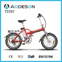 light weight folding electric bicycle/bike TZ202,with Tourney 6 speed