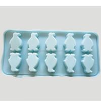 Promotional custom silicone penguin shape Ice cube trays