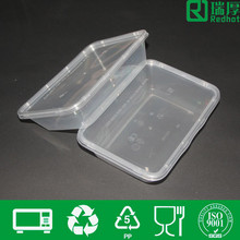 Plastic food disposable container with lid balck base