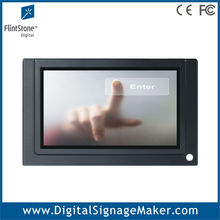 7 inch touch screen mini lcd advertising video player