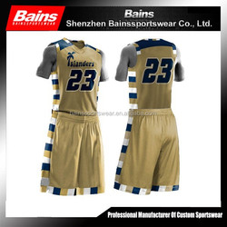 sample basketball uniform design/customize made basketball uniform custom