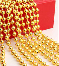 Gold beaded curtain,metal ball chain room divider