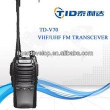 Military bright white LED flashlight two way radio TD-V70