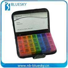 7 Day Colorful PU Single Pill box