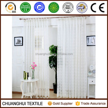 2 Piece white solid color check sheer curtain pinch pleat window curtains