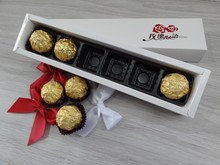 2015 Rigid coated paper chocolate gift boxes,Nested rectangle chocolate packaging China payment