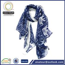 Beautiful jacquard Linen and cotton shawl wholesale from malaysia
