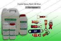 Flexible Crystal Clear Two Components epoxy Resin Glue for Doming on Stickers