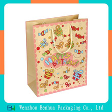 Customized recycle printed gift paper carrier bag