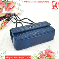 Wholesale fashion brand women bag, stainless steel chain shoulder bags women