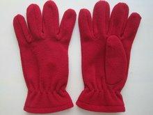 2012 women winter polar fleece gloves with leather
