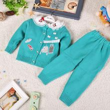 2014 new boys and girls sweater bow baby sweater knit cotton sweater factory outlets