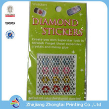 3D cell phone gem rhinestone stickers, Mobile Phone Sticker