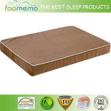 brown cover dog foam bed