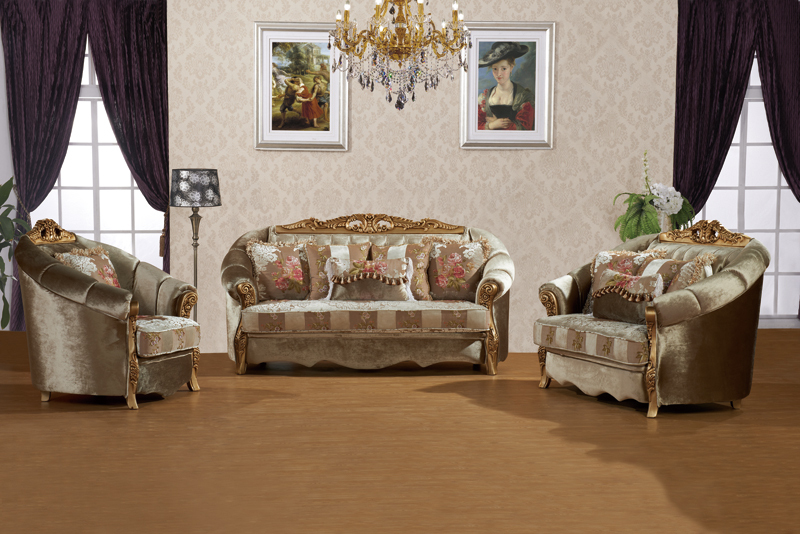 S2136 foshan shunde furniture european style uphostery for Salon beige scouts d europe