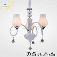 Hot sales Modern simplicity resturant chandeliers bended crystal chandeliers with glass GZ20572-3P
