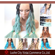 Ombre Two tone Colored Kanekalon Jumbo Braid Hair, Best Selling 100gram Ultra Braiding Hair