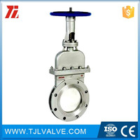 class150/pn10/pn16 flange type stafsjo 2 stainless steel knife/gate valve w/ nopak hs pneumatic actuator good quality go