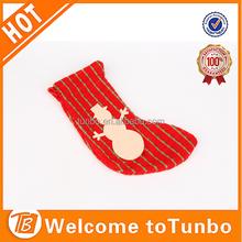 Christmas girls child tube sock red christmas sock with snowman