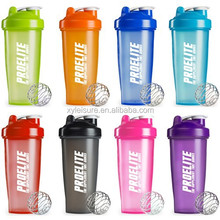 Custom 400ml BPA free Protein Shaker Bottle 600ml Sport Shaker Bottle